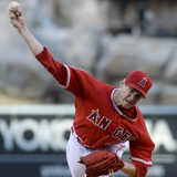 May 3, 2014, Texas Rangers vs Los Angeles Angels of Anaheim - Garrett Richards Photographic Print by Kevork Djansezian