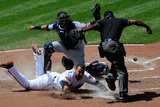 May 25, 2014, Cleveland Indians vs Baltimore Orioles - Nelson Cruz, Carlos Santana Photographic Print by Rob Carr