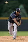 Jun 11, 2014, Atlanta Braves vs Colorado Rockies - Julio Teheran Photographic Print by Doug Pensinger