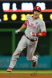 May 20, 2014, Philadelphia Phillies vs Miami Marlins - Chase Utley Photographic Print by Mike Ehrmann