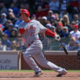 Apr 18, 2014, Cincinnati Reds vs Chicago Cubs - Todd Frazier Photographic Print by Jonathan Daniel