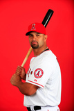 Los Angeles Angels Photo Day: Feb 26, 2014 - Albert Pujols Fotografisk tryk af Jamie Squire
