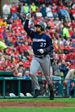 Apr 30, 2014, Milwaukee Brewers vs St. Louis Cardinals - Carlos Gomez Photographic Print by Jeff Curry