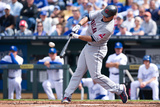 Apr 13, 2012, Cleveland Indians vs Kansas City Royals - Michael Brantley Photographic Print by John Williamson