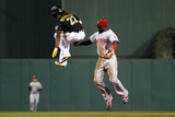 Sep 20, 2013, Cincinnati Reds vs Pittsburgh Pirates - Andrew McCutchen, Brandon Phillips Photographic Print by Justin K. Aller