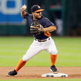 Jun 1, 2014, Baltimore Orioles vs Houston Astros - Jose Altuve Photographic Print by Bob Levey
