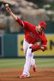 Jun 9, 2014, Oakland Athletics vs Los Angeles Angels of Anaheim - Garrett Richards Photographic Print by Victor Decolongon