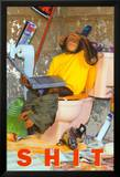 Sh*t- Chimp On The Toilet Photographie