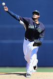 Mar 9, 2014, Texas Rangers vs Seattle Mariners - Felix Hernandez Photographic Print by Christian Petersen