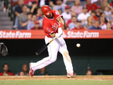 Apr 14, 2014, Oakland Athletics vs Los Angeles Angels of Anaheim - Albert Pujols Photographic Print by Stephen Dunn