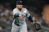 Jun 2, 2014, Seattle Mariners vs New York Yankees - Felix Hernandez Photographic Print by Mike Stobe