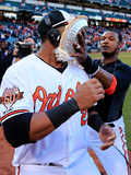 Mar 31, 2014, Boston Red Sox vs Baltimore Orioles - Adam Jones, Nelson Cruz Photographic Print by Rob Carr