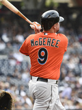 May 10, 2014, Miami Marlins vs San Diego Padres - Casey McGehee Photographic Print by Denis Poroy