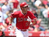 Apr 13, 2014, New York Mets vs Los Angeles Angels of Anaheim - Mike Trout Photographic Print by Stephen Dunn