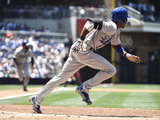 Jun 22, 2014, Los Angeles Dodgers vs San Diego Padres - Dee Gordon Photographic Print by Denis Poroy