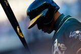 Jun 24, 2014, Oakland Athletics vs New York Mets - Yoenis Cespedes Photographic Print by Mike Stobe