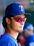 Jul 6, 2014, Texas Rangers vs New York Mets - Yu Darvish Photographic Print by Jim McIsaac