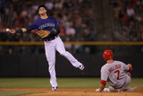 Jun 23, 2014, St. Louis Cardinals vs Colorado Rockies - Troy Tulowitzki, Matt Holliday Photographic Print by Doug Pensinger