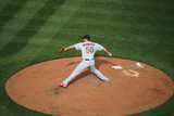 Mar 31, 2014, St. Louis Cardinals vs Cincinnati Reds - Adam Wainwright Photographic Print by John Grieshop