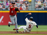 Aug 18, 2013, Washington Nationals vs Atlanta Braves - Anthony Rendon, Freddie Freeman Photographic Print by Kevin C. Cox