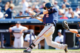 Jun 1, 2014, Minnesota Twins vs New York Yankees - Brian Dozier Photographic Print by Jim McIsaac