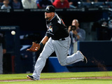 Apr 22, 2014, Miami Marlins vs Atlanta Braves - Casey McGehee Photographic Print by Kevin C. Cox