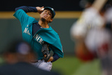 Jun 23, 2014, Boston Red Sox vs Seattle Mariners - Felix Hernandez Photographic Print by Otto Greule Jr