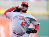 Jun 17, 2014, Cincinnati Reds vs Pittsburgh Pirates - Johnny Cueto Photographic Print by Joe Sargent