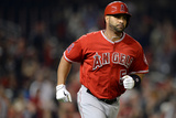Apr 22, 2014, Los Angeles Angels of Anaheim vs Washington Nationals - Albert Pujols Fotografisk tryk af Patrick Smith