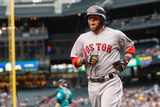 Jun 23, 2014, Boston Red Sox vs Seattle Mariners - Dustin Pedroia Fotografisk tryk af Otto Greule Jr