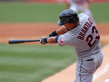 Apr 12, 2014, Cleveland Indians vs Chicago White Sox - Michael Brantley Photographic Print by Jonathan Daniel