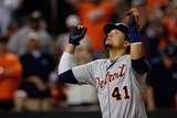 May 13, 2014, Detroit Tigers vs Baltimore Orioles - Victor Martinez Photographic Print by Patrick McDermott