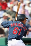 Mar 6, 2009, Milwaukee Brewers vs Cleveland Indians - Michael Brantley Photographic Print by Christian Petersen