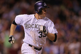 Jun 24, 2014, St. Louis Cardinals vs Colorado Rockies - Justin Morneau Photographic Print by Doug Pensinger