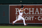Apr 28, 2014, Cleveland Indians vs Los Angeles Angels of Anaheim - Mike Trout Photographic Print by Jeff Gross