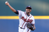 Apr 21, 2014, Miami Marlins vs Atlanta Braves - Julio Teheran Photographic Print by Kevin C. Cox