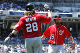 Jun 8, 2014, Washington Nationals vs San Diego Padres - Adam LaRoche, Jayson Werth Photographic Print by Denis Poroy