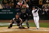 2012 World Series Game 4: Oct 28, San Francisco Giants vs Detroit Tigers - Miguel Cabrera Fotografisk tryk af Leon Halip