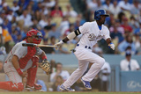 May 26, 2014, Cincinnati Reds vs Los Angeles Dodgers - Dee Gordon Photographic Print by Victor Decolongon