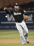 May 8, 2014, Miami Marlins vs San Diego Padres - Casey McGehee Photographic Print by Denis Poroy
