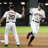 Jun 30, 2014, Seattle Mariners vs Houston Astros - George Springer, Pat Listach Photographic Print by Bob Levey