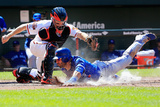Jun 15, 2014, Toronto Blue Jays vs Baltimore Orioles - Jose Bautista, Nick Hundley Photographic Print by Rob Carr