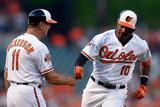 May 13, 2014, Detroit Tigers vs Baltimore Orioles - Adam Jones, Bobby Dickerson Photographic Print by Patrick McDermott