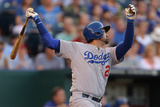 Jun 25, 2014, Los Angeles Dodgers vs Kansas City Royals - Adrian Gonzalez Photographic Print by Ed Zurga