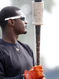 Mar 19, 2014, Tampa Bay Rays vs Baltimore Orioles - Adam Jones Photographic Print by Brian Blanco