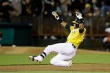 May 31, 2014, Los Angeles Angels of Anaheim vs Oakland Athletics - Yoenis Cespedes Photographic Print by Ezra Shaw