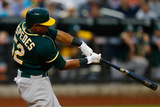 Jun 25, 2014, Oakland Athletics vs New York Mets - Yoenis Cespedes Photographic Print by Mike Stobe