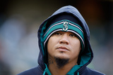 May 5, 2014, Seattle Mariners vs Oakland Athletics - Felix Hernandez Photographic Print by Ezra Shaw