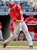 Apr 26, 2014, Los Angeles Angels of Anaheim vs New York Yankees - Mike Trout Photographic Print