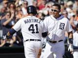 Jun 14, 2014, Minnesota Twins vs Detroit Tigers - Miguel Cabrera, Victor Martinez Photographic Print by Duane Burleson